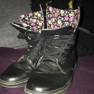 Womans Dr. Martens with Floral lining